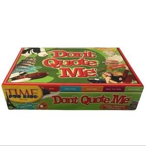Time Don't Quote Me Kids Board Game
